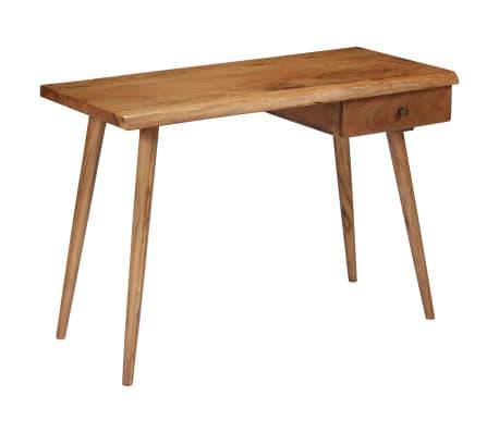 vidaXL Rašomasis stalas, masyvi akacijos mediena, 110x50x76cm[17/18]