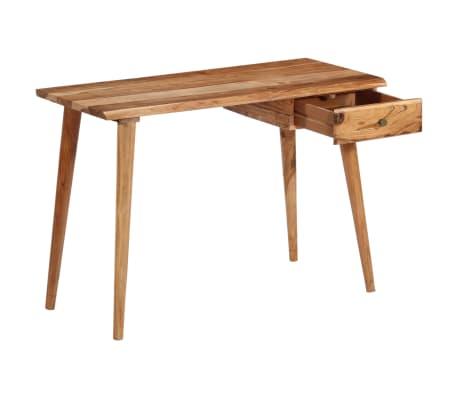 vidaXL Rašomasis stalas, masyvi akacijos mediena, 110x50x76cm[5/18]
