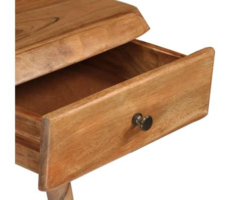 vidaXL Rašomasis stalas, masyvi akacijos mediena, 110x50x76cm[7/18]