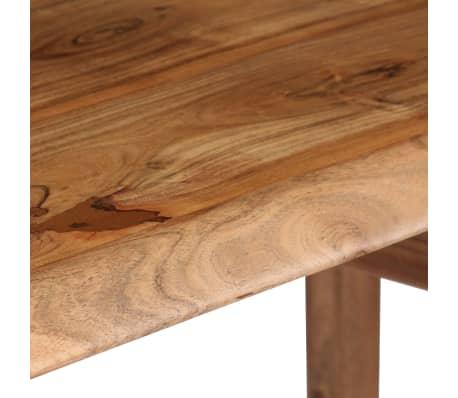 vidaXL Rašomasis stalas, masyvi akacijos mediena, 110x50x76cm[9/18]