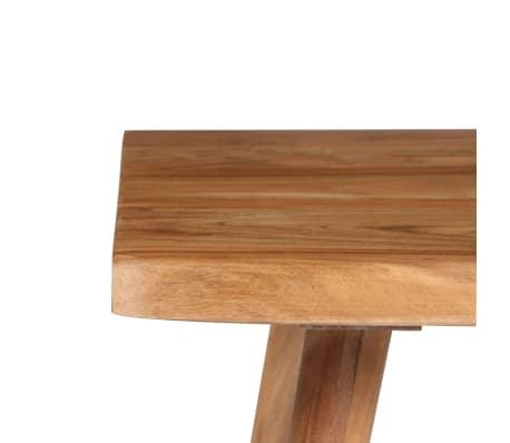 vidaXL Rašomasis stalas, masyvi akacijos mediena, 110x50x76cm[10/18]