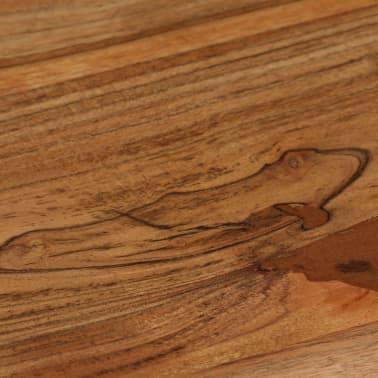 vidaXL Rašomasis stalas, masyvi akacijos mediena, 110x50x76cm[13/18]