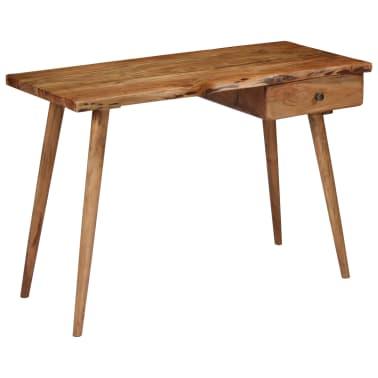vidaXL Rašomasis stalas, masyvi akacijos mediena, 110x50x76cm[14/18]