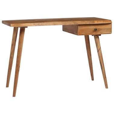 vidaXL Rašomasis stalas, masyvi akacijos mediena, 110x50x76cm[4/18]