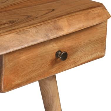 vidaXL Rašomasis stalas, masyvi akacijos mediena, 110x50x76cm[6/18]