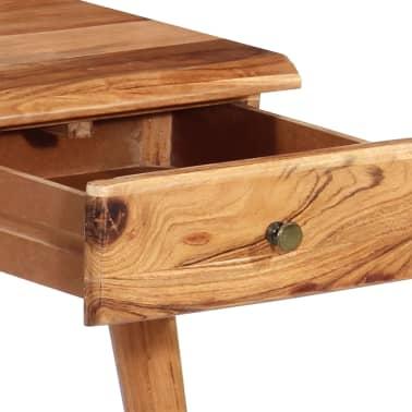 vidaXL Rašomasis stalas, masyvi akacijos mediena, 110x50x76cm[8/18]