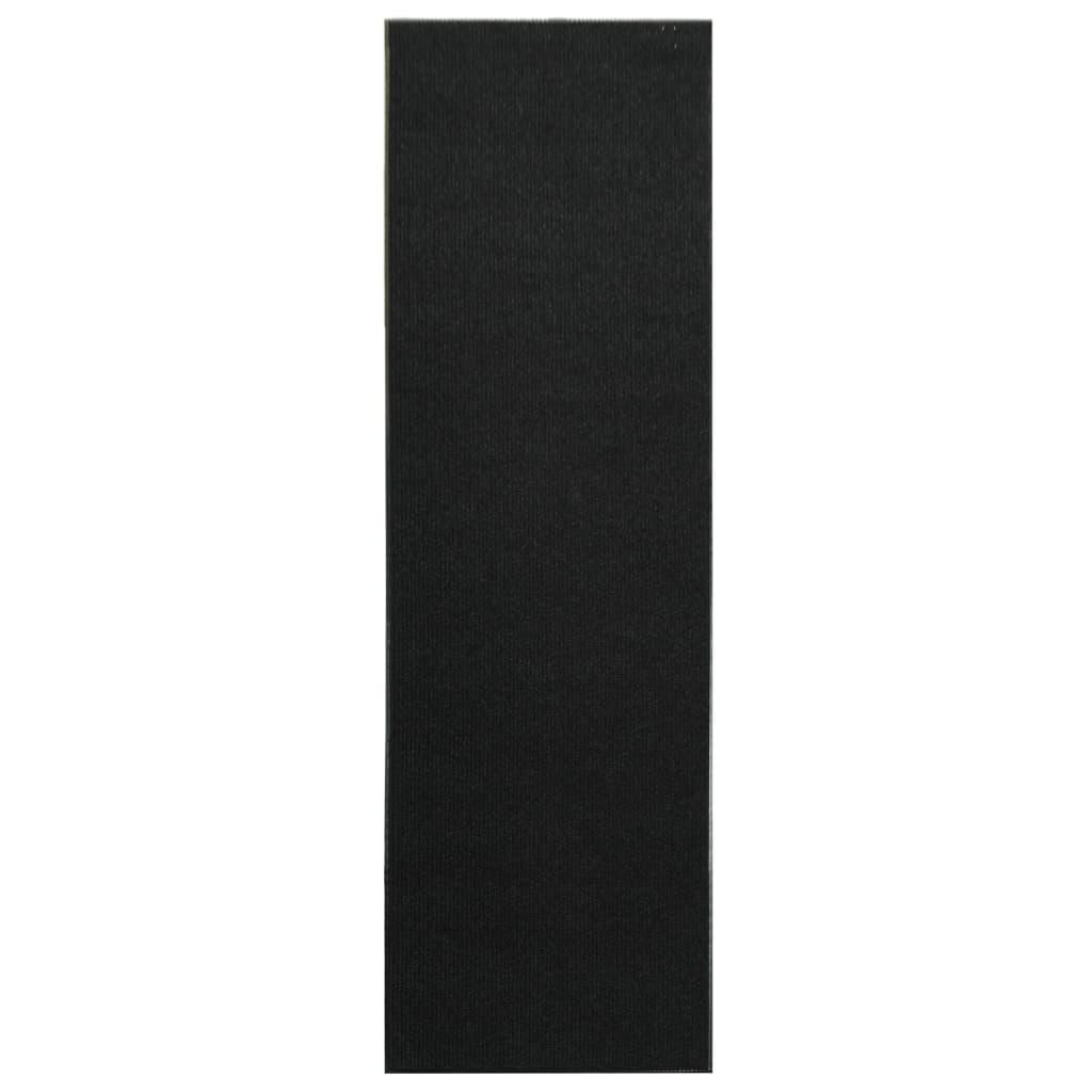 Afbeelding van vidaXL Deurmat anti-slip met vinyl onderkant 1,2x10 m zwart