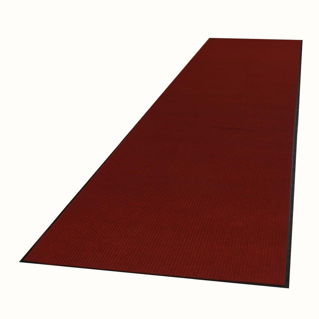 Afbeelding van vidaXL Deurmat anti-slip met vinyl onderkant 1,2x5 m rood