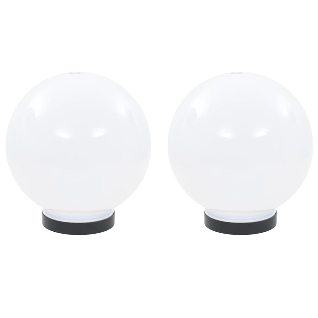vidaXL Φωτιστικά Μπάλα LED 2 τεμ. Σφαιρικά 20 εκ. Ακρυλικά (PMMA)