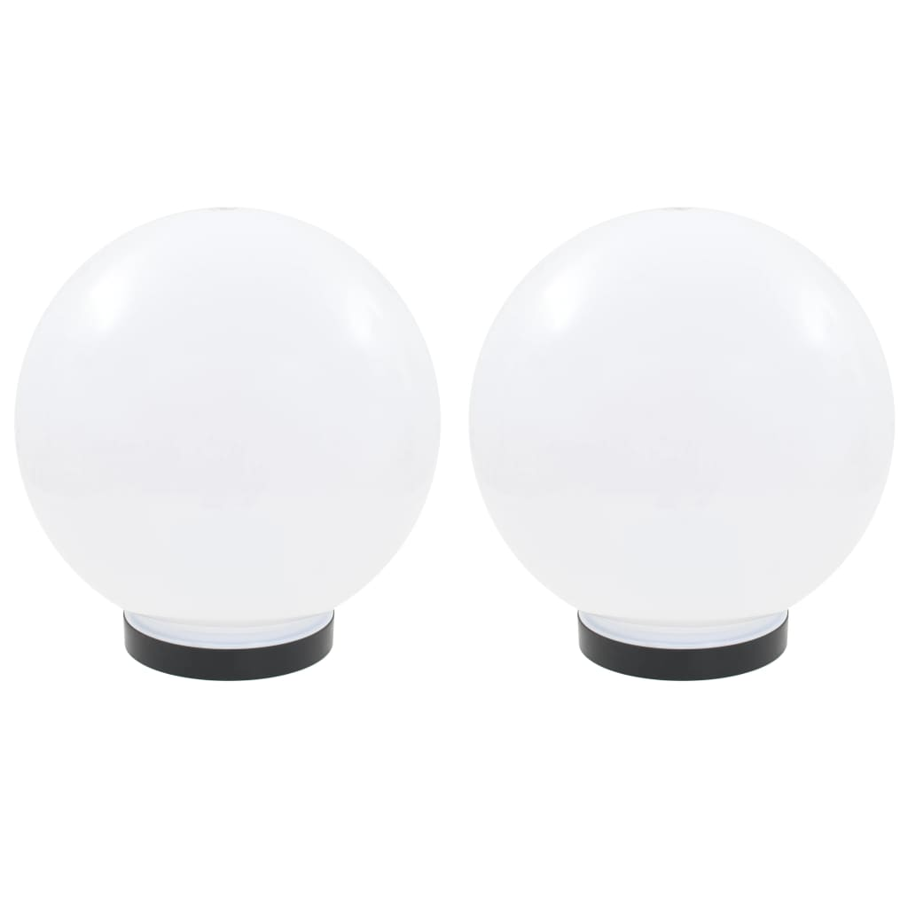 vidaXL Φωτιστικά Μπάλα LED 2 τεμ. Σφαιρικά 25 εκ. Ακρυλικά (PMMA)