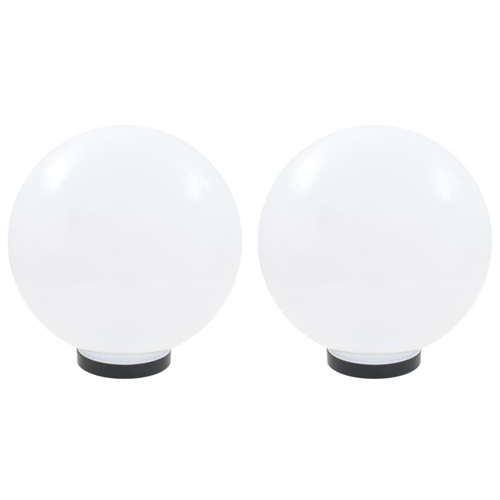 vidaXL Φωτιστικά Μπάλα LED 2 τεμ. Σφαιρικά 30 εκ. Ακρυλικά (PMMA)