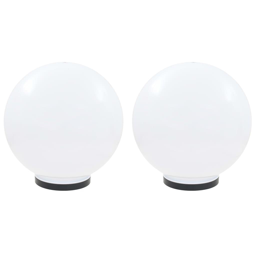 vidaXL Φωτιστικά Μπάλα LED 2 τεμ. Σφαιρικά 40 εκ. Ακρυλικά (PMMA)
