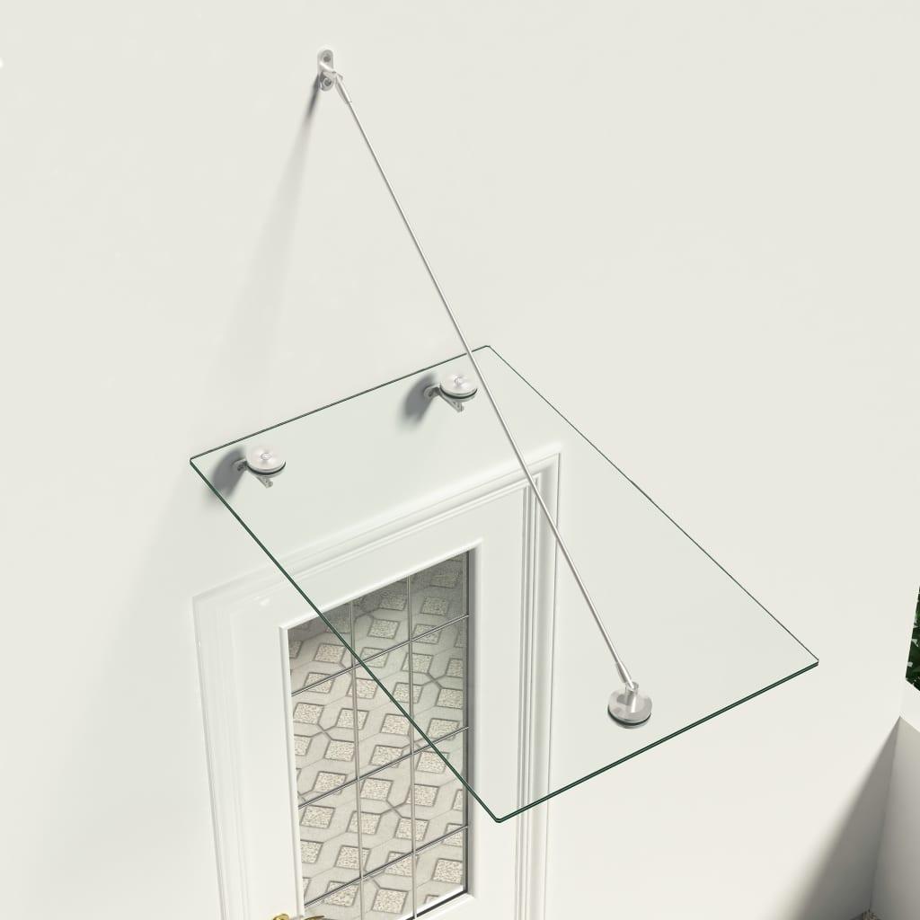 vidaXL Vchodová stříška bezpečnostní sklo VSG 90 x 60 cm nerezová ocel