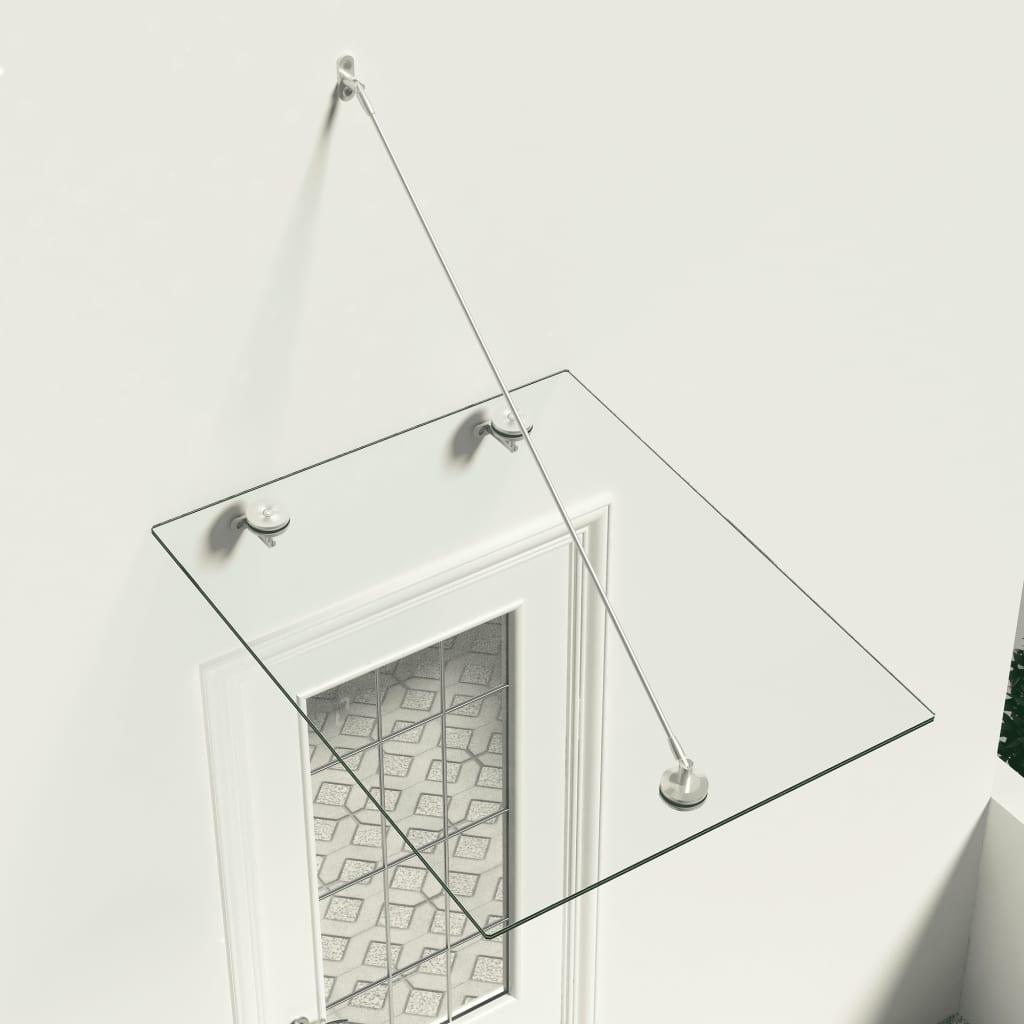 vidaXL Vchodová stříška bezpečnostní sklo VSG 90x75 cm nerezová ocel