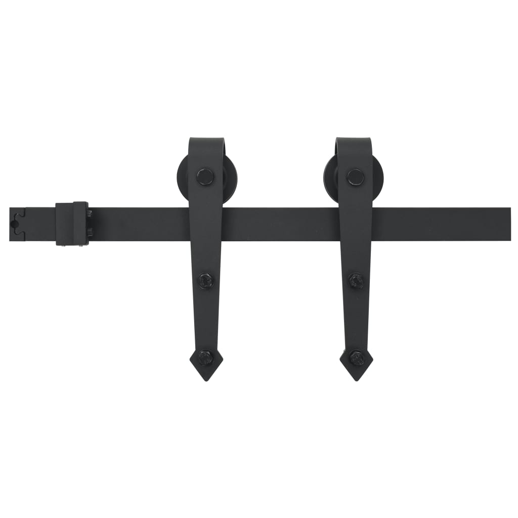 Afbeelding van vidaXL Doos met onderdelen voor schuifdeur 183 cm staal zwart