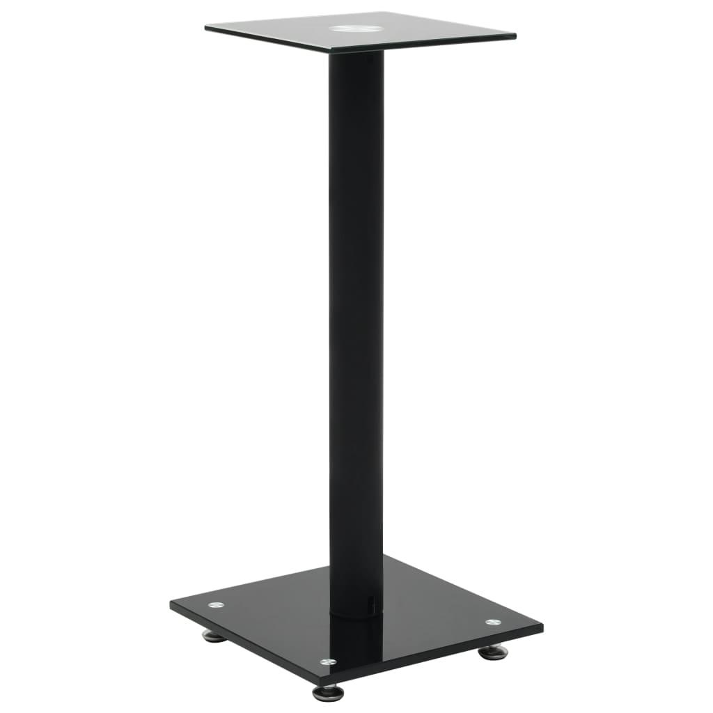 Foto van vidaXL Speakerstandaarden zuil-ontwerp gehard glas zwart 2 st