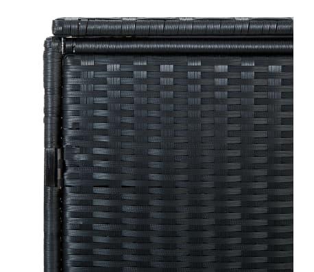 vidaXL Unidade dupla arrumação caixotes lixo vime preto 148x80x111 cm[6/7]
