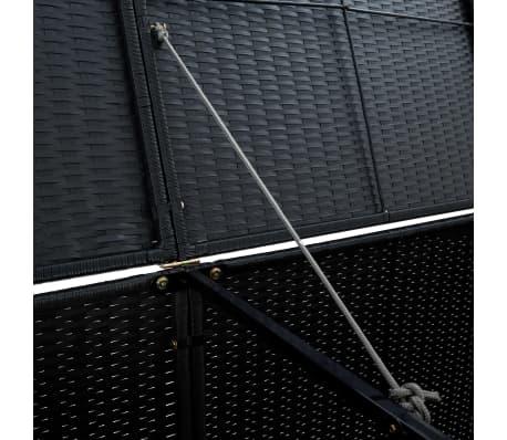 vidaXL Unidade dupla arrumação caixotes lixo vime preto 148x80x111 cm[7/7]