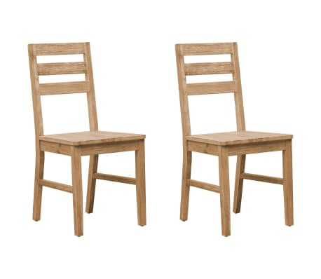 vidaXL Dining Chairs 2 pcs Solid Acacia Wood