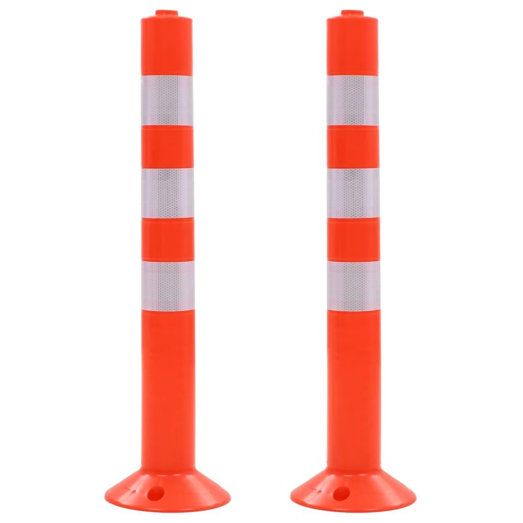 vidaXL Baliză control trafic, 2 buc., plastic, 75 cm vidaxl.ro