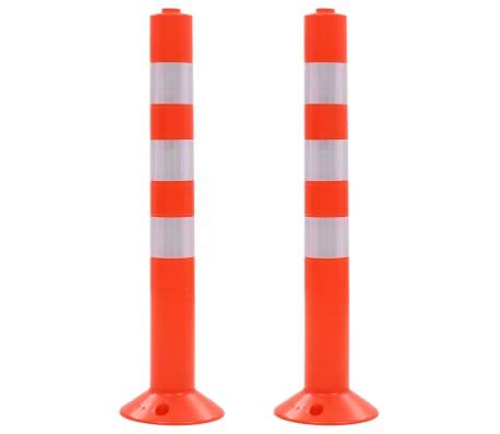 vidaXL Traffic Control Bollards 2 pcs Plastic 75 cm