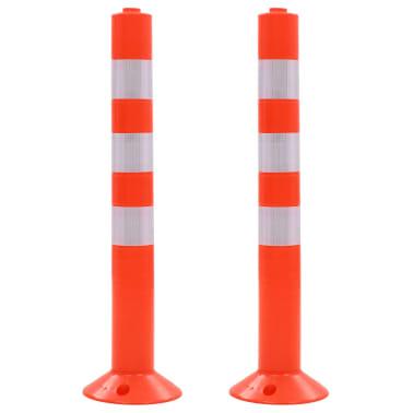 vidaXL Cestni stebriček 2 kosa plastika 75 cm[1/7]