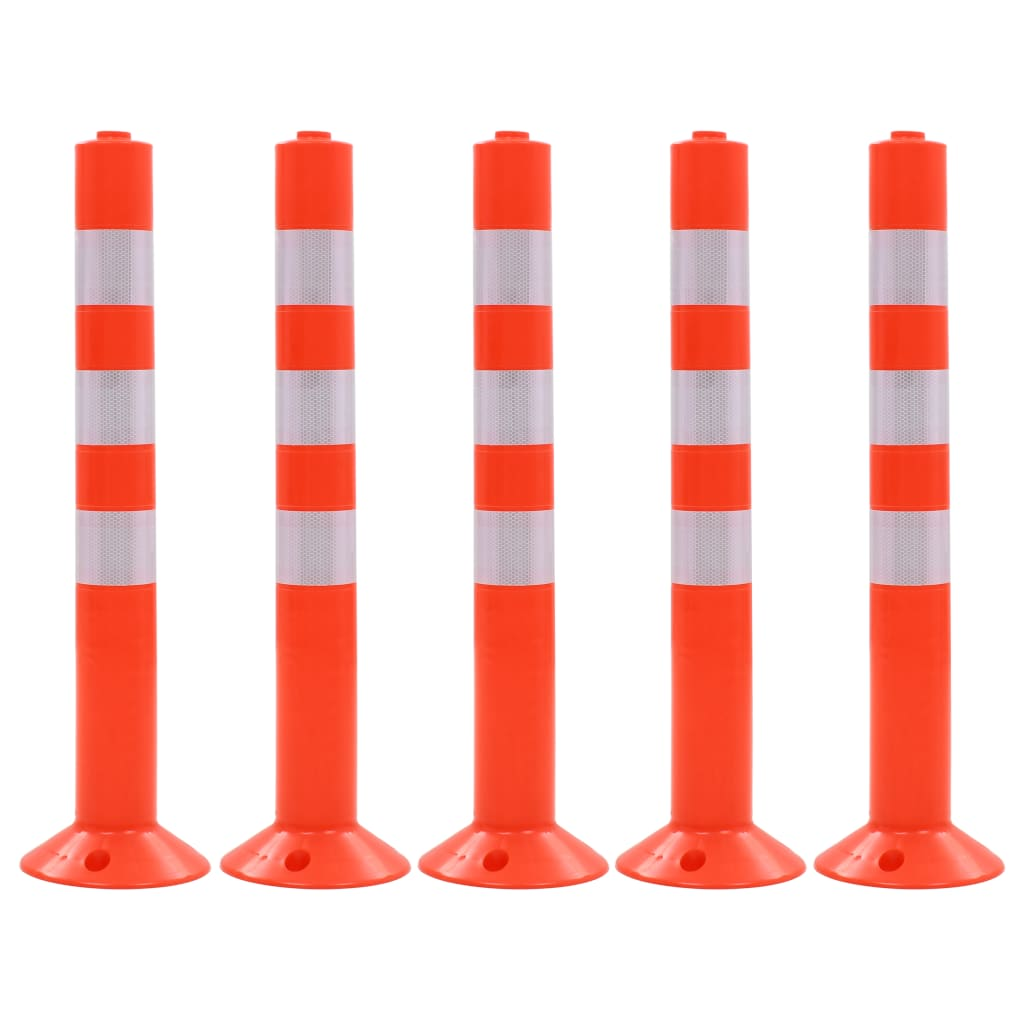 vidaXL Baliză control trafic, 5 buc., plastic, 75 cm poza 2021 vidaXL