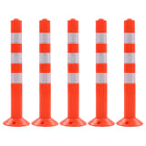 vidaXL Traffic Control Bollards 5 pcs Plastic 75 cm