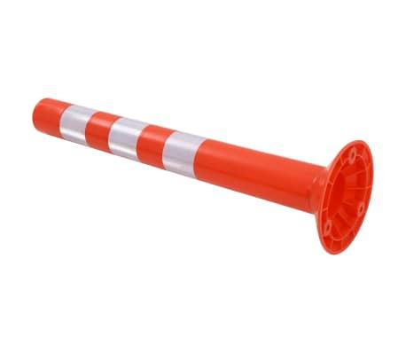 vidaXL Eismo reguliavimo stulpeliai, 5vnt., plastikas, 75cm[3/7]
