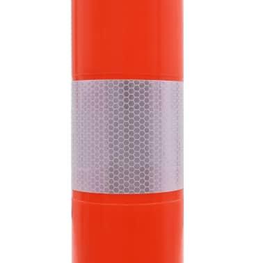 vidaXL Eismo reguliavimo stulpeliai, 5vnt., plastikas, 75cm[6/7]