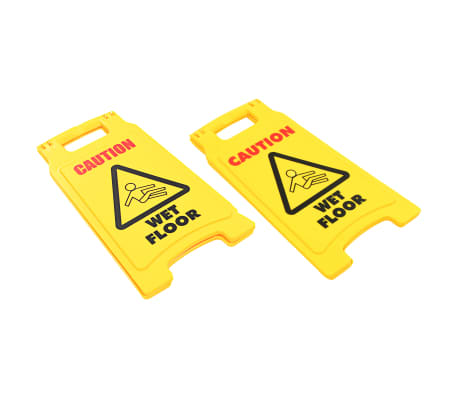 vidaXL Warnschilder Vorsicht Rutschgefahr 2 Stück Kunststoff 47 cm[2/5]