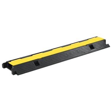 vidaXL Rampa de protección de cable 1 canal goma 100 cm[1/3]