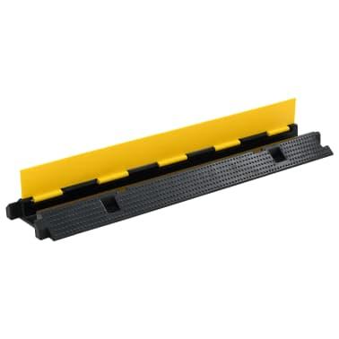 vidaXL Rampa de protección de cable 1 canal goma 100 cm[2/3]