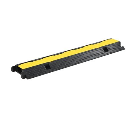 vidaXL Rampas de protección de cable 2 piezas 1 canal goma 100 cm[2/4]