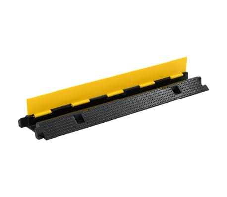 vidaXL Rampas de protección de cable 2 piezas 1 canal goma 100 cm[3/4]