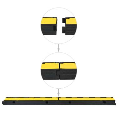 vidaXL Rampas de protección de cable 2 piezas 1 canal goma 100 cm[4/4]