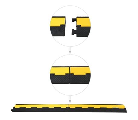 vidaXL Rampe de protection de câble 2 canaux caoutchouc 101,5 cm[3/3]