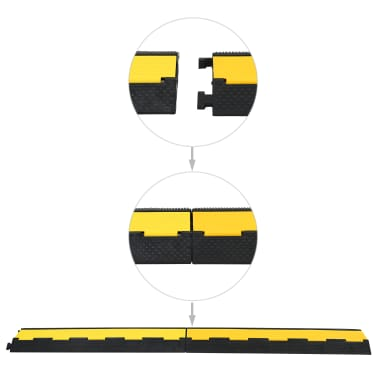 vidaXL Kabelių apsauga, 2 kanalai, guminės, 101,5cm[3/3]