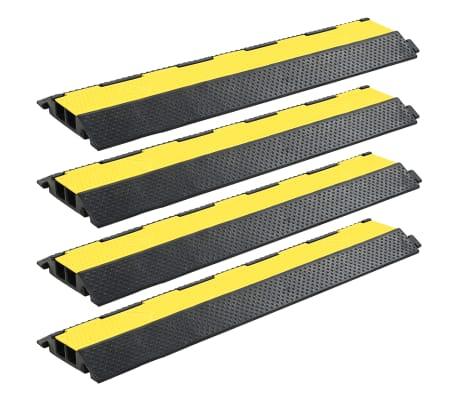 vidaXL Rampe de protection de câble 4 pcs 2 canaux caoutchouc 101,5 cm[1/4]