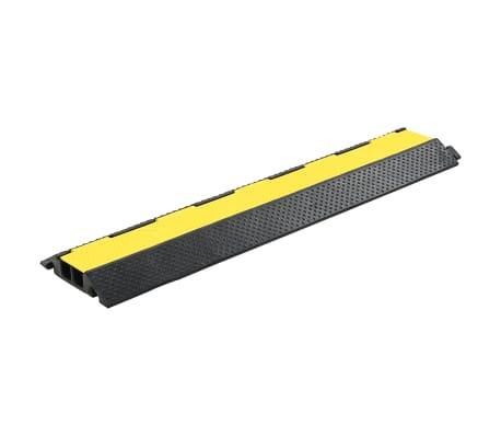 vidaXL Rampe de protection de câble 4 pcs 2 canaux caoutchouc 101,5 cm[2/4]