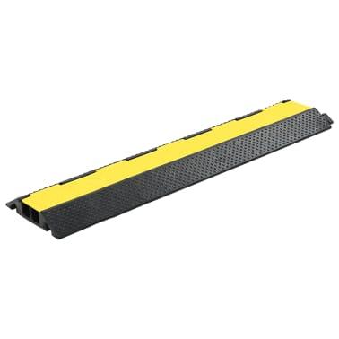 vidaXL Kabelbeschermer drempels 2 tunnels 101,5 cm rubber 4 st[2/4]
