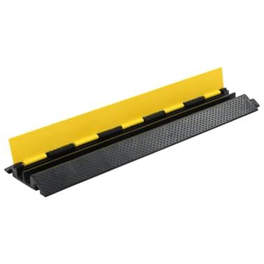 vidaXL Rampe de protection de câble 4 pcs 2 canaux caoutchouc 101,5 cm[3/4]