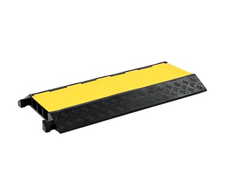 vidaXL Rampe de protection de câble 3 canaux caoutchouc 93 cm[1/3]