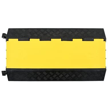 vidaXL Rampe de protection de câble 3 canaux caoutchouc 93 cm[2/3]