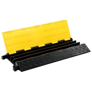 vidaXL Rampe de protection de câble 3 canaux caoutchouc 93 cm[3/3]