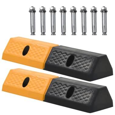 vidaXL Topes de estacionamiento 2 piezas 49x15x9 cm[1/5]