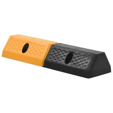 vidaXL Topes de estacionamiento 2 piezas 49x15x9 cm[2/5]