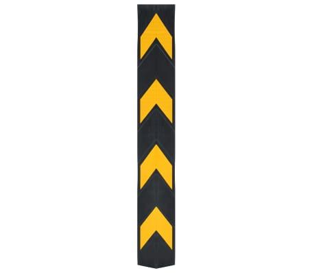 vidaXL Cornière de protection réfléchissante 10 pcs Caoutchouc 80 cm[2/5]