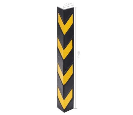 vidaXL Cornière de protection réfléchissante 10 pcs Caoutchouc 80 cm[5/5]