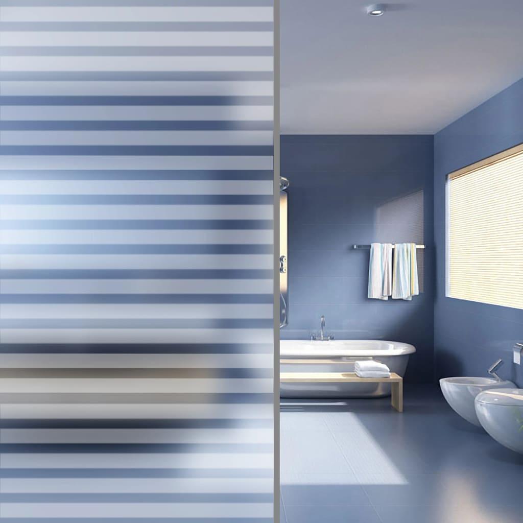 vidaXL Matná privátní fólie na okno samolepicí proužky 0,9 x 5 m